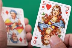βασίλισσα καρδιών Στοκ φωτογραφίες με δικαίωμα ελεύθερης χρήσης