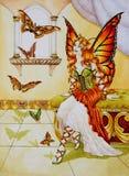 βασίλισσα πεταλούδων διανυσματική απεικόνιση