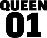 Βασίλισσα 01 Σχέδιο μπλουζών ζεύγους Στοκ Φωτογραφίες