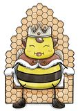 Βασίλισσα Bee Sitting στον κυψελωτό θρόνο Στοκ εικόνες με δικαίωμα ελεύθερης χρήσης
