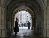 Βασίλισσες Guard Standing Still στοκ εικόνα με δικαίωμα ελεύθερης χρήσης