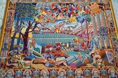 Βασίλισσες Tapestries - εσωτερικό του παλατιού Κοπεγχάγη Christainsborg στοκ φωτογραφία