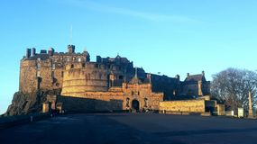 βασίλειο Σκωτία του Εδιμβούργου κάστρων που ενώνεται Στοκ Φωτογραφία