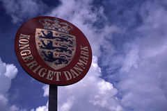 Βασίλειο του σημαδιού της Δανίας, Kongeriget Danmark στοκ φωτογραφίες με δικαίωμα ελεύθερης χρήσης