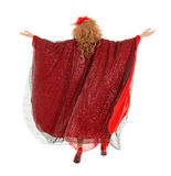 Βασίλισσα έλξης πορτρέτου κατά την άποψη φορεμάτων γυναικών από την πλάτη Στοκ φωτογραφία με δικαίωμα ελεύθερης χρήσης