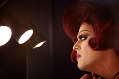 Βασίλισσα έλξης στα φω'τα Στοκ φωτογραφία με δικαίωμα ελεύθερης χρήσης