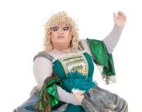 Βασίλισσα έλξης στο εκλεκτής ποιότητας φόρεμα Στοκ Εικόνες
