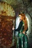 Βασίλισσα πιπεροριζών κοντά στο κάστρο Στοκ Εικόνες