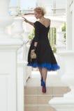 Βασίλισσα σε ένα μαύρο φόρεμα στοκ εικόνα με δικαίωμα ελεύθερης χρήσης