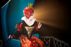 Βασίλισσα σχεδιαγράμματος των καρδιών Στοκ Εικόνες