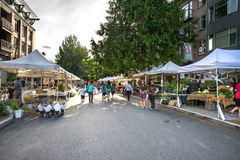 Βασίλισσα Anne Farmers Market Σιάτλ, Ουάσιγκτον Στοκ Εικόνες