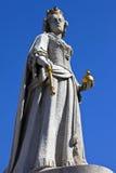 Βασίλισσα Anne Statue στον καθεδρικό ναό του ST Paul στο Λονδίνο Στοκ φωτογραφία με δικαίωμα ελεύθερης χρήσης