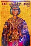 Βασίλισσα Helena Golden Icon Saint George εκκλησία Madaba Ιορδανία Στοκ Εικόνες