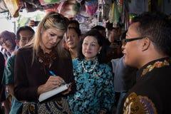 Βασίλισσα Maxima της επίσκεψης Netherland στην Ινδονησία στοκ εικόνες