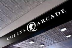 Βασίλισσες Arcade - ιστορικό εμπορικό κέντρο του Ώκλαντ CBD Στοκ φωτογραφία με δικαίωμα ελεύθερης χρήσης