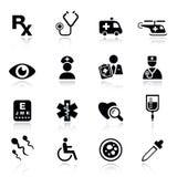 βασικά εικονίδια ιατρικά διανυσματική απεικόνιση