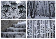 βασικά στοιχεία ανασκόπησης που ομαδοποιούνται χειμώνας προτύπων Στοκ Φωτογραφίες