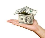 βασικά χρήματα χεριών Στοκ φωτογραφία με δικαίωμα ελεύθερης χρήσης