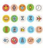 Βασικά χρωματισμένα διανυσματικά εικονίδια 2 Στοκ Εικόνες