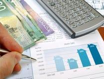 βασικές πωλήσεις διαγραμμάτων Στοκ εικόνα με δικαίωμα ελεύθερης χρήσης