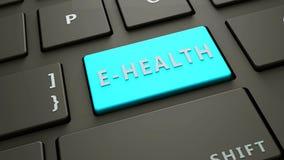 βασική έννοια ε-υγείας πληκτρολογίων υπολογιστών Στοκ εικόνα με δικαίωμα ελεύθερης χρήσης