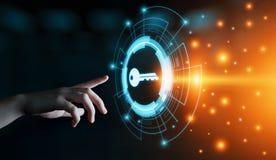 Βασική έννοια τεχνολογίας επιχειρησιακού Διαδικτύου εικονιδίων λέξεων κλειδιών Στοκ Εικόνα