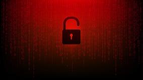 Βασική επίθεση cyber εικονιδίων κόκκινη σημαντική που χτυπά τους υπολογιστές απεικόνιση αποθεμάτων