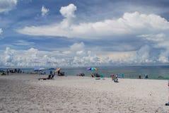 Βασική παραλία σιέστας σε Sarasota Φλώριδα Στοκ Φωτογραφίες