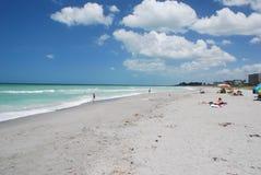 Βασική παραλία σιέστας σε Sarasota Φλώριδα Στοκ φωτογραφίες με δικαίωμα ελεύθερης χρήσης