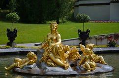 Βασική πηγή, Linderhof Γερμανία Στοκ φωτογραφία με δικαίωμα ελεύθερης χρήσης