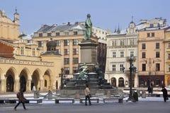 βασική Πολωνία πλατεία της Κρακοβίας Στοκ Εικόνες