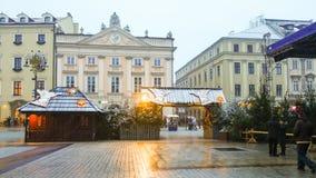 βασική πλατεία της Κρακο στοκ φωτογραφία με δικαίωμα ελεύθερης χρήσης