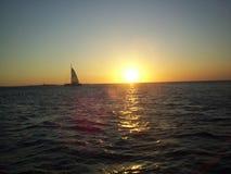 βασική δύση ηλιοβασιλέματος Στοκ Φωτογραφία