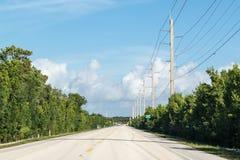 Βασικός βραδύτατος δρόμος, Florida Keys, ΗΠΑ στοκ φωτογραφία