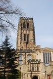 βασικός πρίγκηπας Durham Αγγλία χριστιανισμού καθεδρικών ναών επισκόπων τόπων γεννήσεως στοκ εικόνα με δικαίωμα ελεύθερης χρήσης
