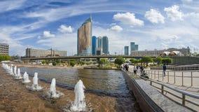 βασικός πύργος ρολογιών πόλεων astana buil Καζακστάν Στοκ Εικόνες
