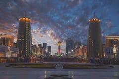 βασικός πύργος ρολογιών πόλεων astana buil στοκ φωτογραφία με δικαίωμα ελεύθερης χρήσης