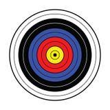 Βασικός στόχος arquery για την εκτύπωση Στοκ Εικόνα