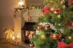 βασικό δέντρο Χριστουγένν& Στοκ Εικόνες