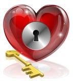 βασικό κλείδωμα καρδιών ελεύθερη απεικόνιση δικαιώματος