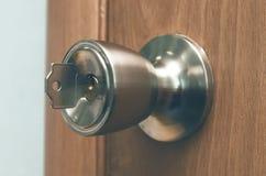 βασικό κλείδωμα πορτών Στοκ Φωτογραφίες