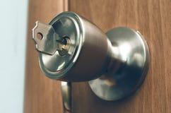 βασικό κλείδωμα πορτών Στοκ φωτογραφία με δικαίωμα ελεύθερης χρήσης