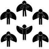 Βασικό κοστούμι ιματισμού σημαδιών εικονιδίων ανθρώπων στάσης ατόμων Στοκ Φωτογραφία
