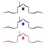 βασικό λογότυπο Εικονίδιο σπιτιών Στοκ Εικόνα