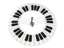 βασικό πιάνο Στοκ Φωτογραφίες