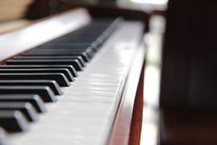 βασικό πληκτρολόγιο ένα εστίασης πιάνο εκλεκτικό Στοκ Φωτογραφία