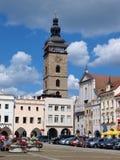 Βασικό τετράγωνο, Ceske Budejovice, Δημοκρατία της Τσεχίας στοκ φωτογραφία