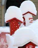 βασικό χιόνι πουλιών Στοκ Φωτογραφίες