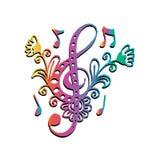 Βασικό ύφος doodle μουσικής Στοκ Φωτογραφίες