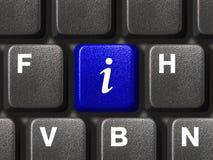 βασικό PC πληκτρολογίων πληροφοριών Στοκ Εικόνες